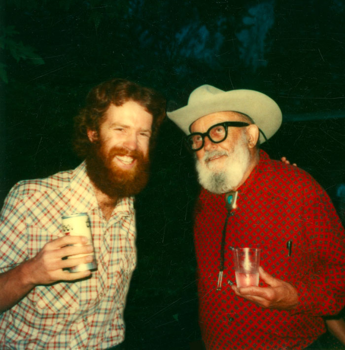 Ansel Adams and I, circa 1981