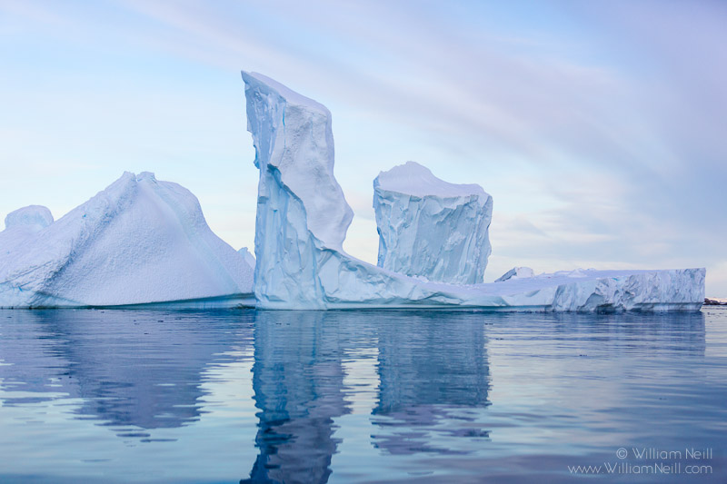 Iceberg Towers at Dawn, Pleneau Bay, Antarctic Peninsula, Antarctica 2014 January 30, 2014 05:58:54